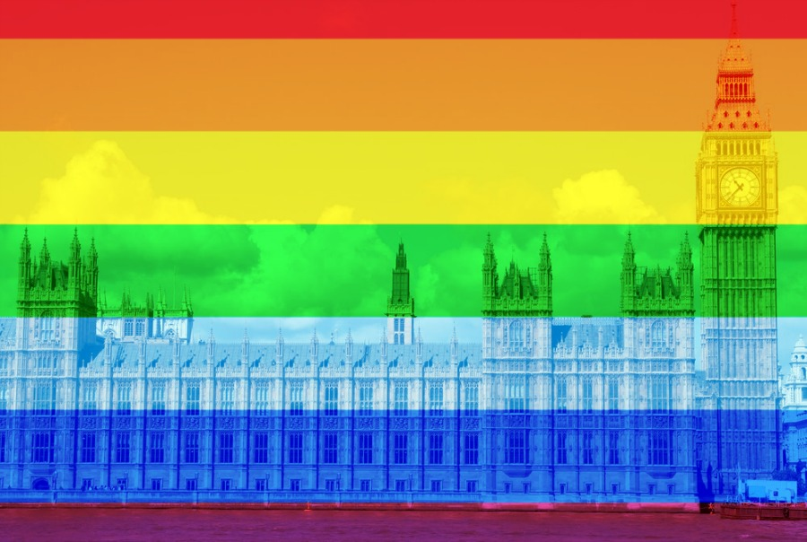 house of parliament rainbow